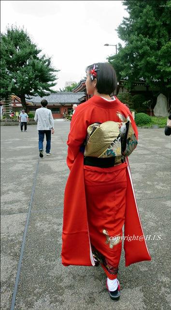 ใส่กิโมโนถ่ายรูปเล่นในโตเกียว