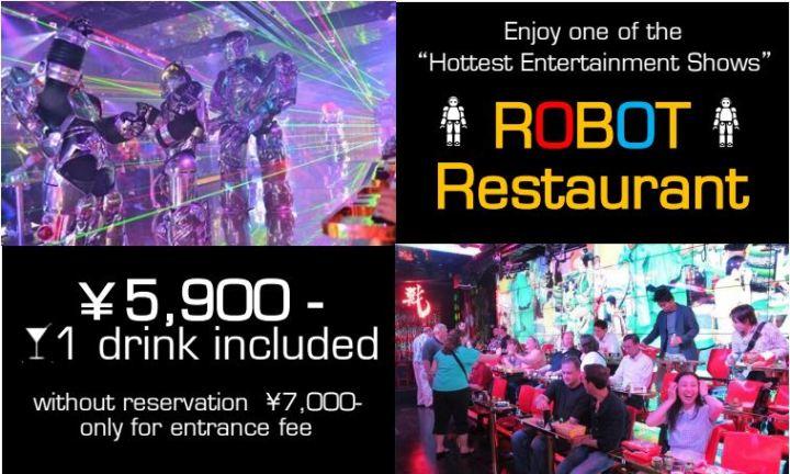 Robot restaurant ร้านโรบอทที่ไม่ได้มีแค่โรบอท 18+