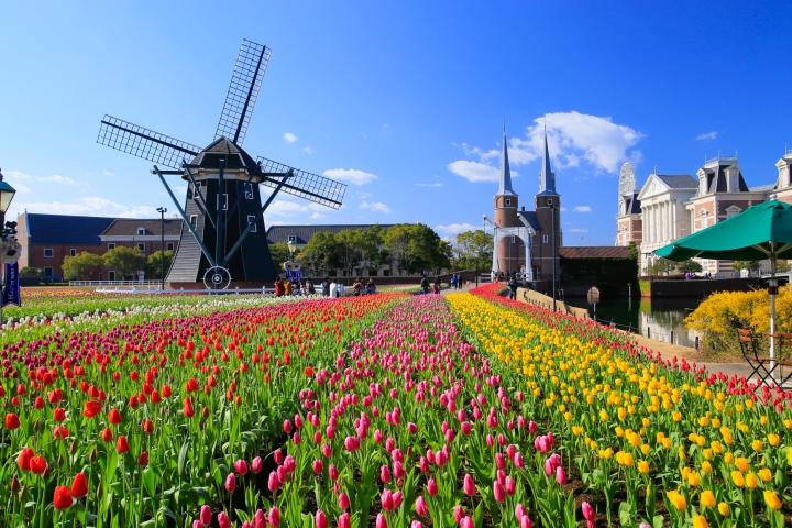สวนสนุกหมู่บ้านฮอลล์แลนด์ HUIS TEN BOSCH