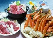 QGU_飛騨牛すき焼き&ずわい蟹食べ放題(イメージ)